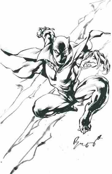 Black Panther, pencils and inks by Buzz