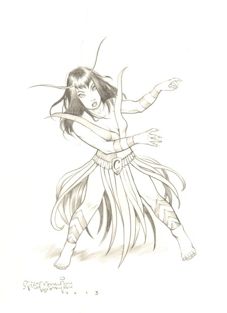 Mantis, pencils by Steve Mannion