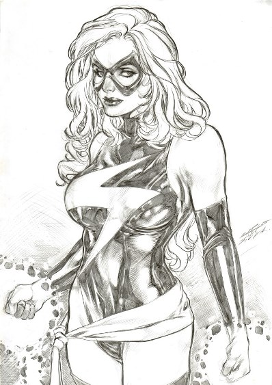 Ms. Marvel, pencils by Carlos Silva