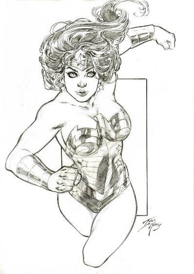 Wonder Woman, pencils by Iago Maia