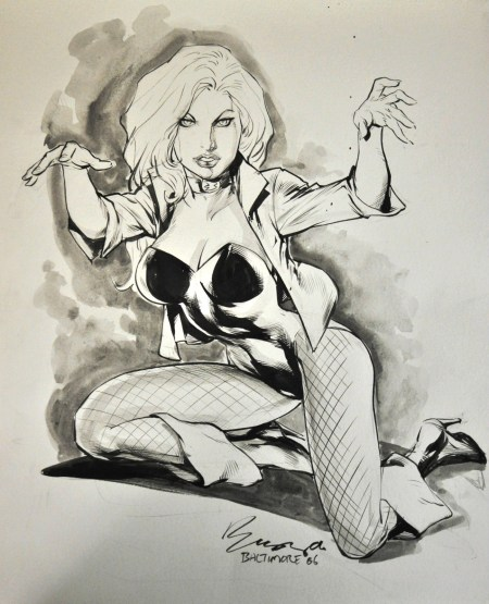 Black Canary, pencils and inks by the comics artist known as Buzz