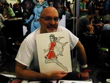 Aaron Lopresti and Mary Marvel, Big Wow ComicFest 2014