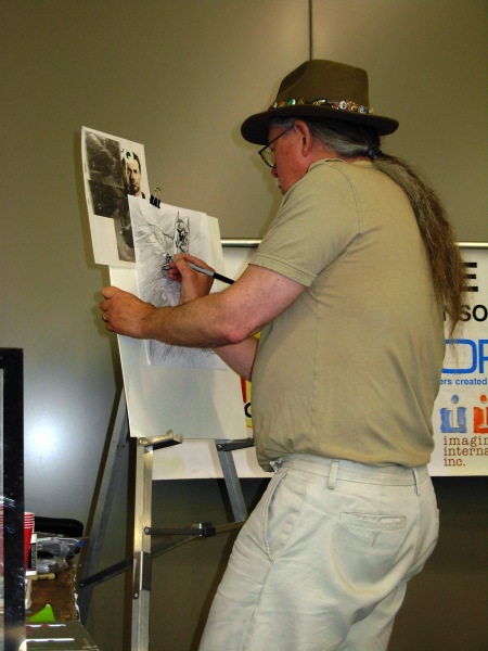 Brent Anderson inking Batman, Big Wow ComicFest 2014