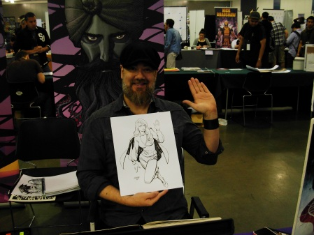 Dave Johnson and Supergirl, Big Wow ComicFest 2014