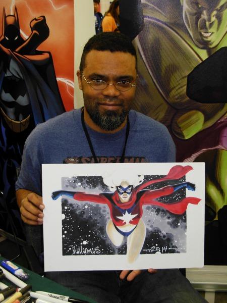 David Williams and Ms. Marvel, Big Wow ComicFest 2014