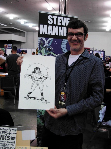 Steve Mannion and the Golden Age Valkyrie, Big Wow ComicFest 2014
