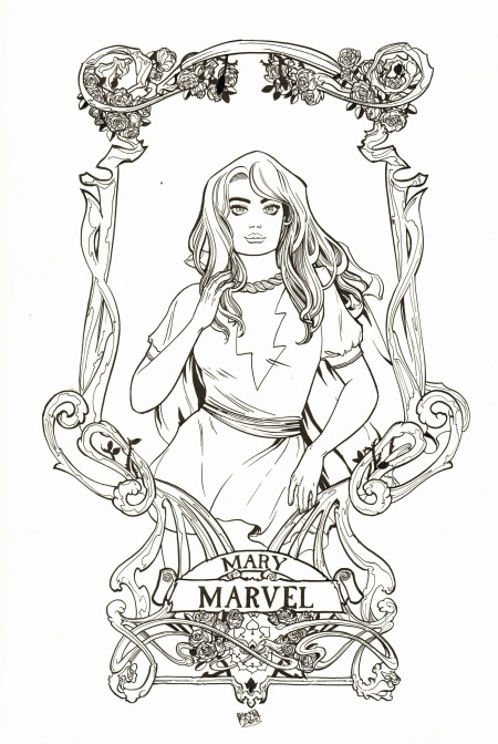Mary Marvel, pencils and inks by Sanya Anwar