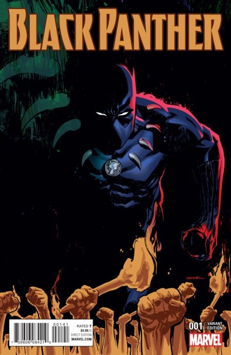 Black Panther #1 (2016 series), Ryan Sook variant cover