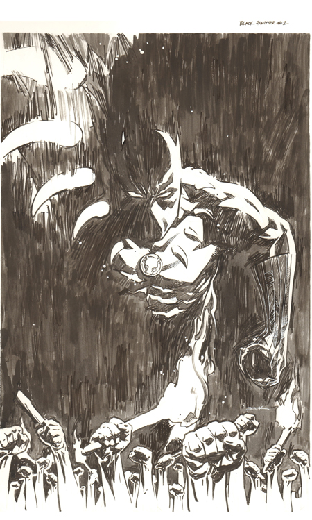 Variant cover for Black Panther #1 (2016 series), original art by Ryan Sook