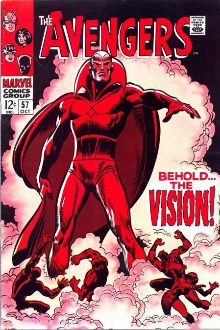Avengers #57 (October 1968), cover art by John Buscema