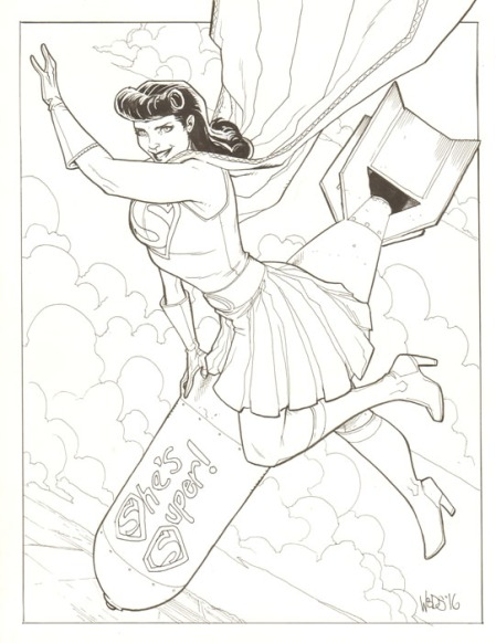 Superwoman aka Lois Lane, pencils and inks by Pete Woods