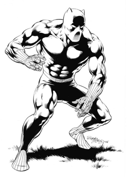 Black Panther, pencils and inks by Bob McLeod