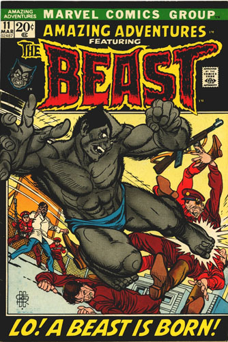 Amazing Adventures #11, cover art by Gil Kane and Bill Everett