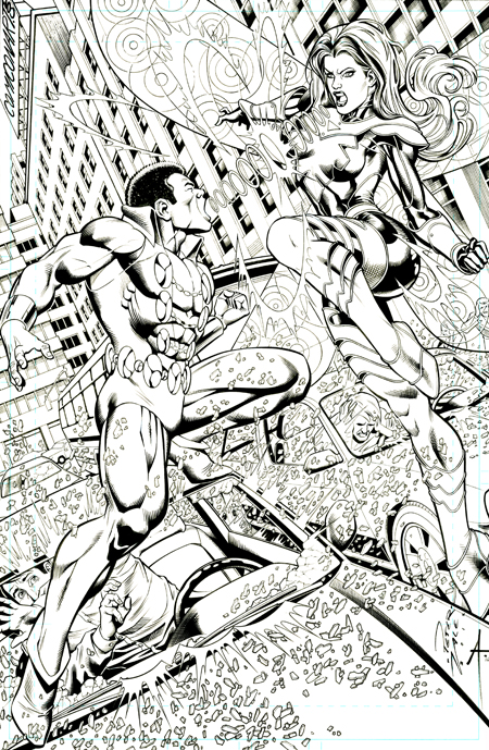 Tyroc and Songbird, pencils by Peter Vale, inks by Bob Almond