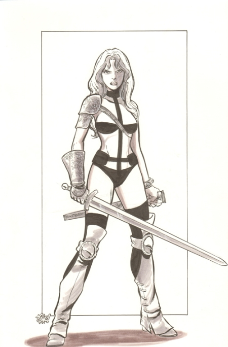 Taarna, pencils and inks by Tone Rodriguez