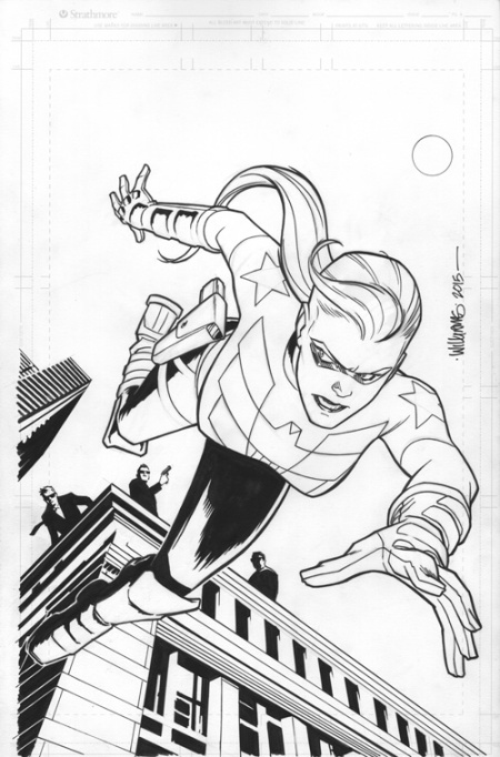 The Shield, issue 2, original cover art by David Williams